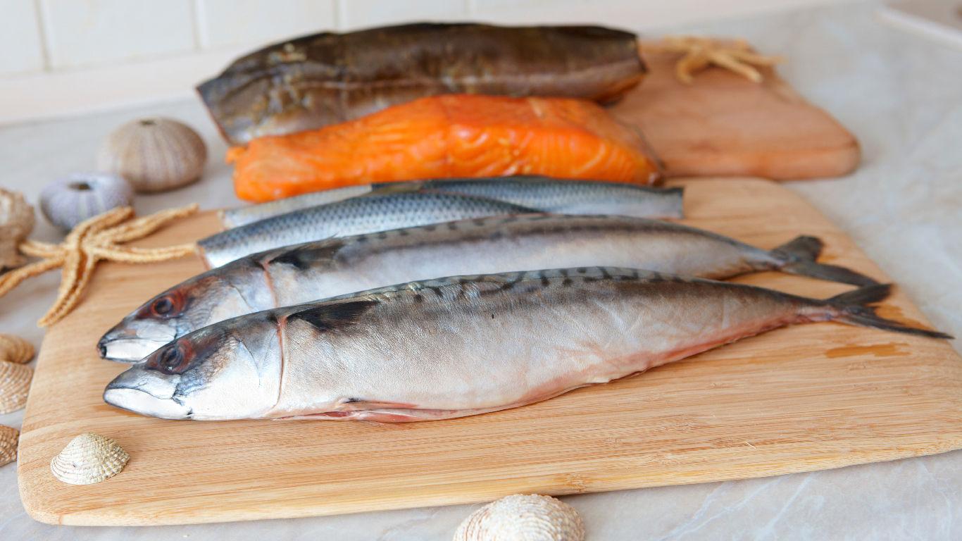 Makrele, Hering und Wildlachs