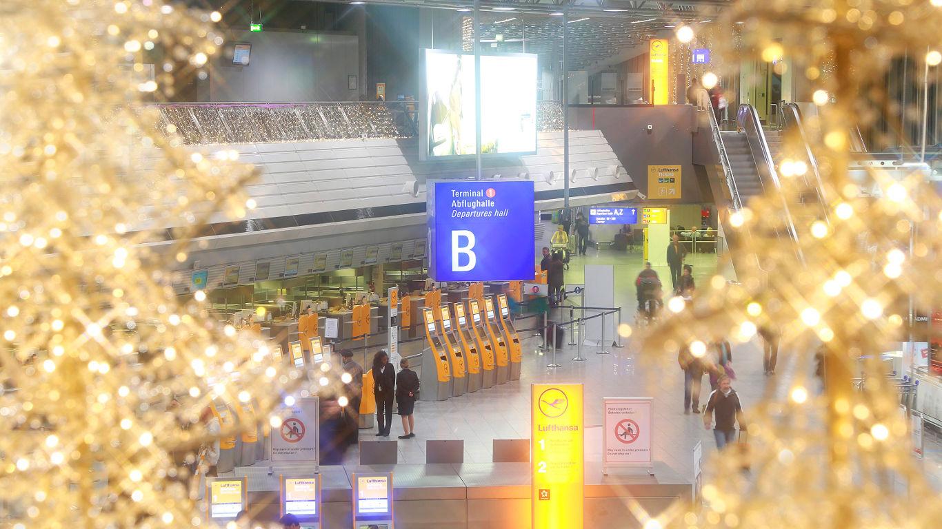 Winter-Tour am Frankfurter Flughafen