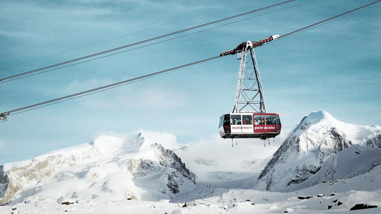 """3S Trockener Steg"" am Kleinen Matterhorn: Edelbahn mit Sportsitzen"