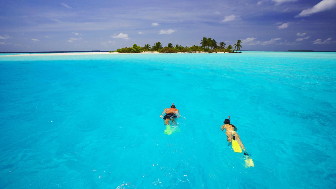 Platz 7: Nicht nur für Hochzeitsreisende – Malediven