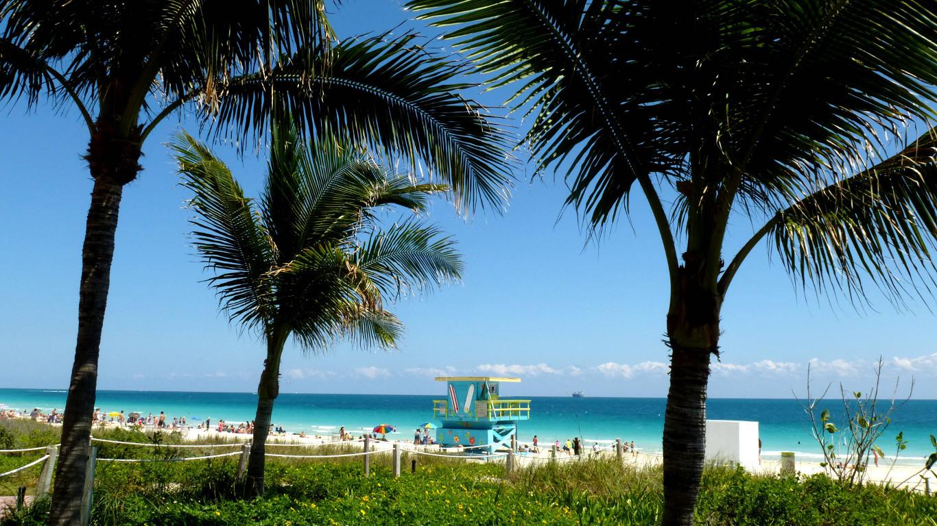 Platz 4: Der Staat mit Sonnenschein-Garantie – Florida