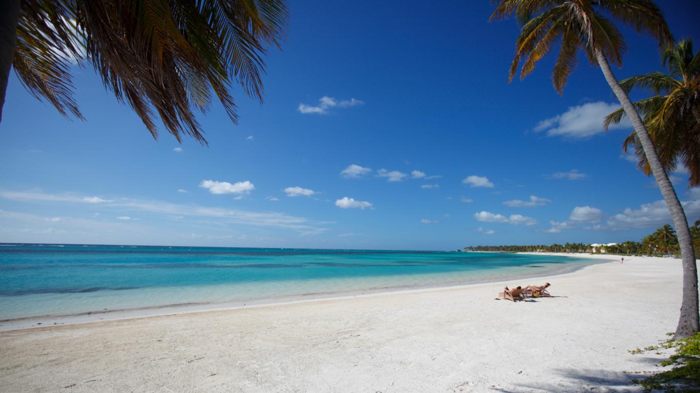 Platz 2: Türkisfarbenes Meer und Palmenstrand – Dominikanische Republik