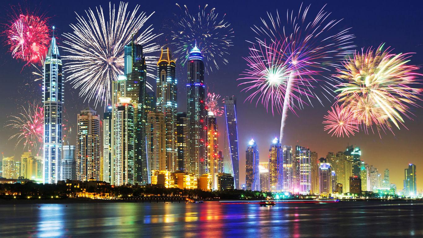 Shooting Star unter den Silvesterzielen – Dubai