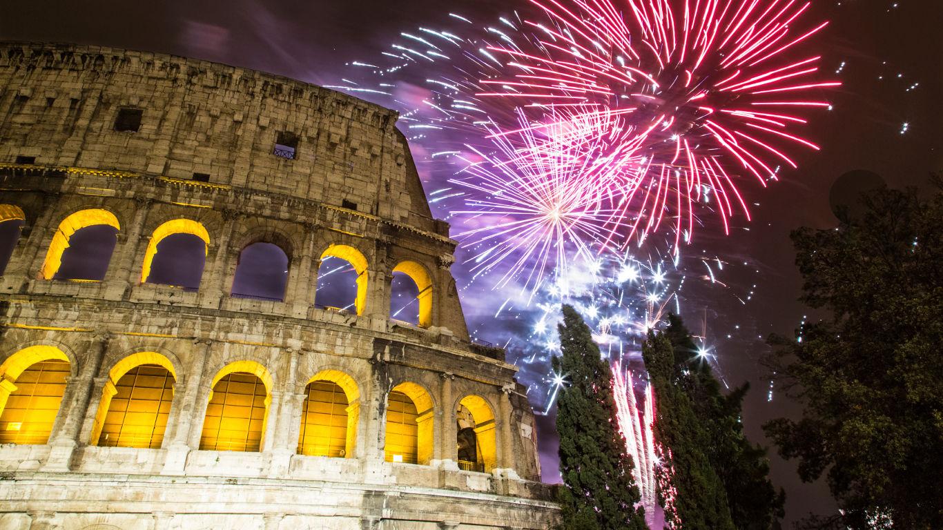 Silvester am Kolosseum – Rom
