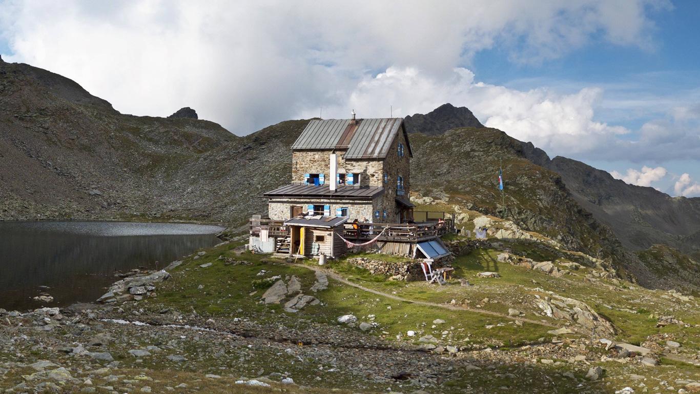 Die Flaggerschartenhütte (Sarntaler Alpen, Südtirol)