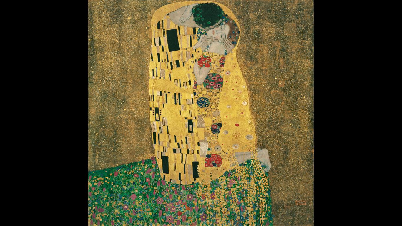 """Österreichische Galerie Belvedere, Wien – """"Der Kuss"""" von Gustav Klimt"""