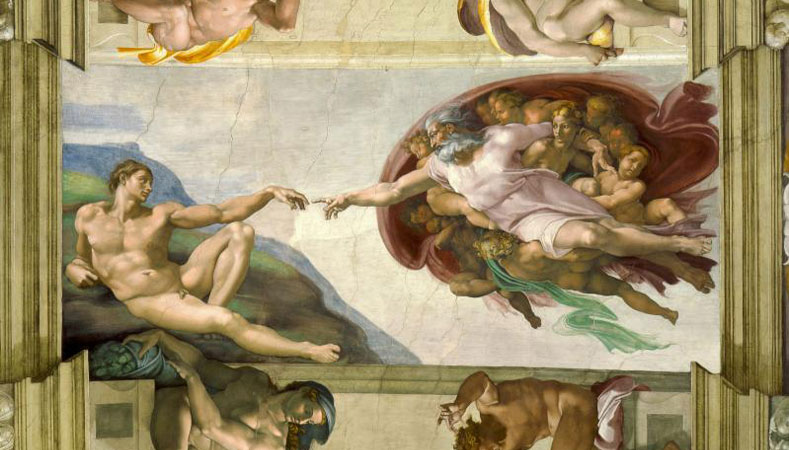 """Sixtinische Kapelle, Rom – """"Die Erschaffung Adams"""" von Michelangelo"""
