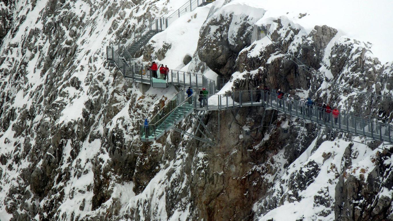 Dachstein, Österreich: Eine Treppe ins Nichts