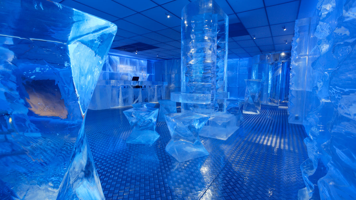 Cool: die Ice Bar in Oslo