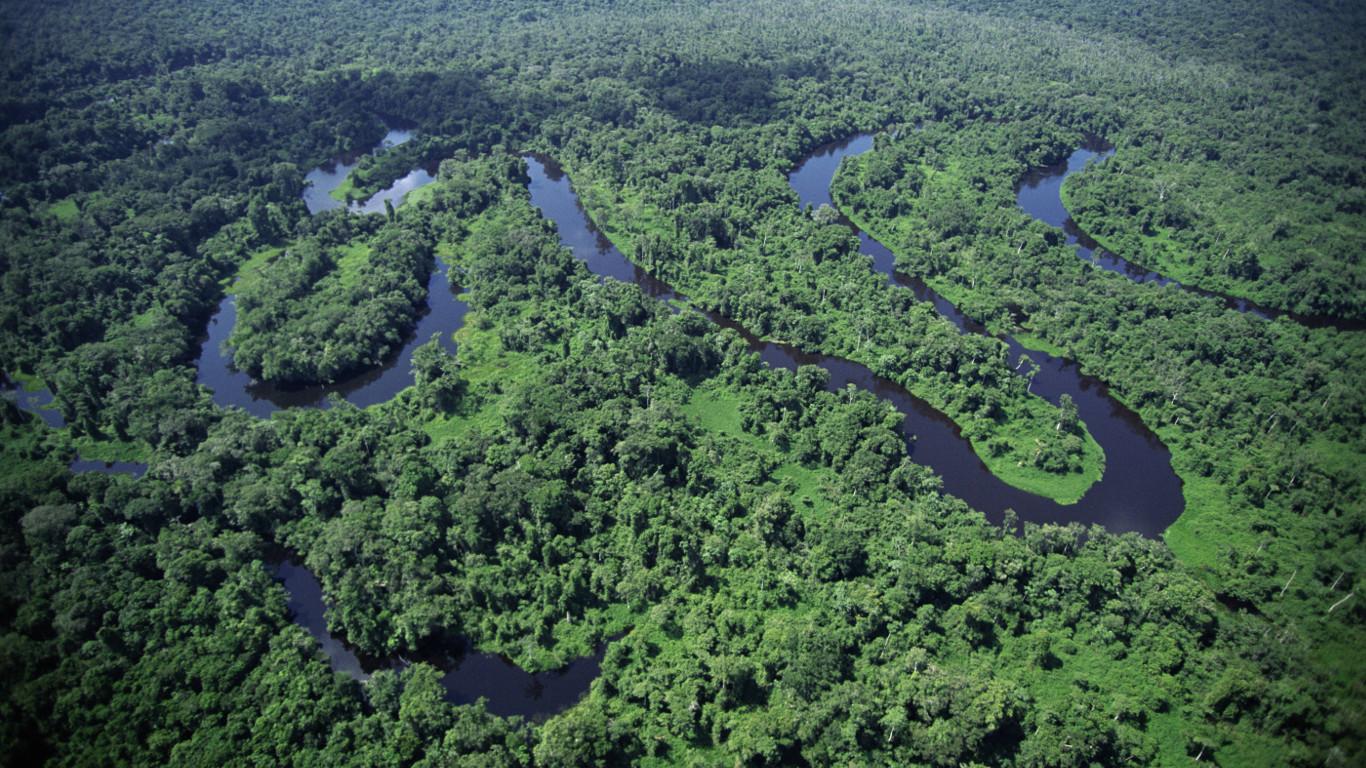 Die Wassermassen des Amazonas