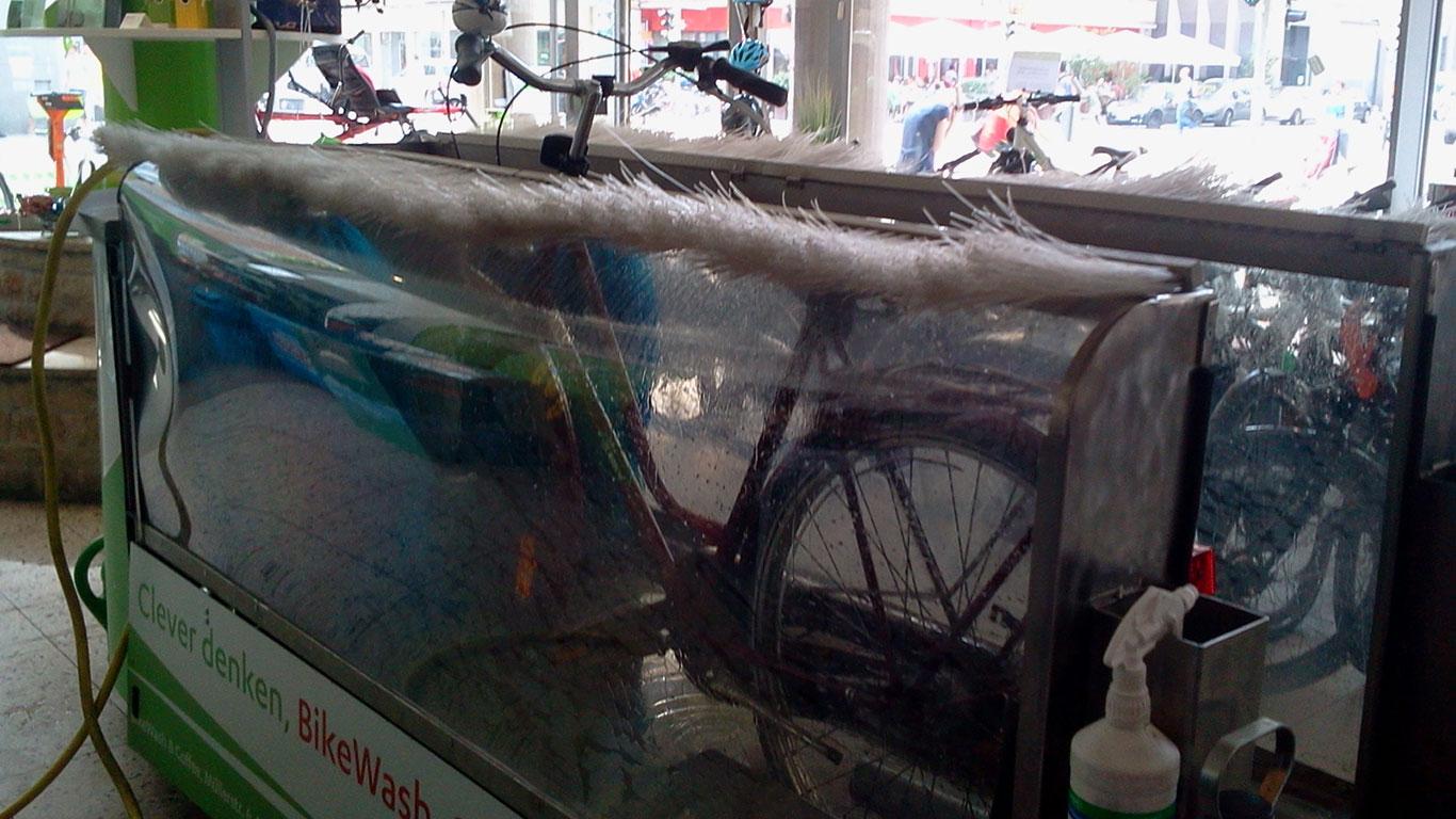 Bike-Wash: die Fahrrad-Waschanlage