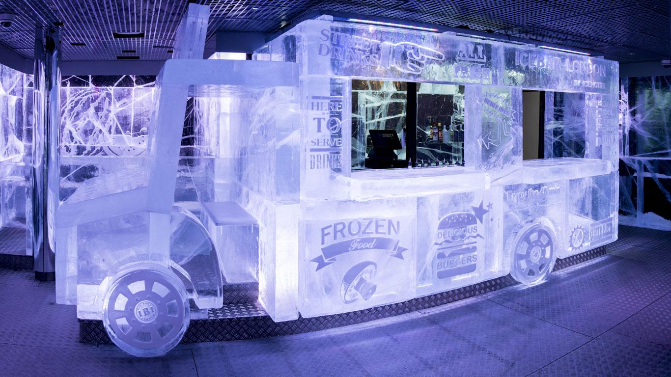 Fixe Abkühlung bei großer Hitze – London Icebar: