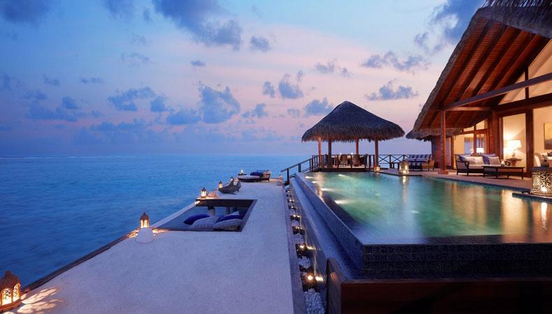 Malediven: Entspannter Blick aufs Meer