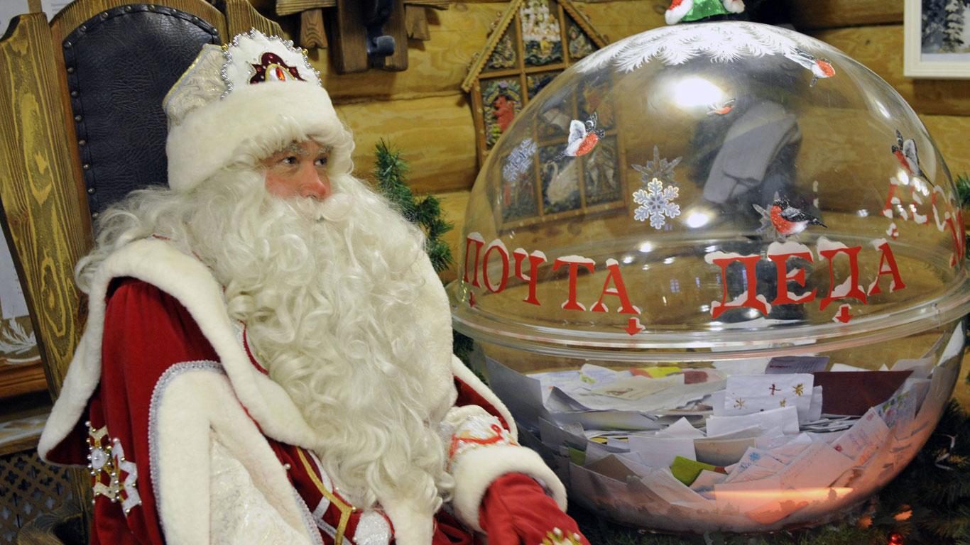 Väterchen Frost bringt die Geschenke in Russland