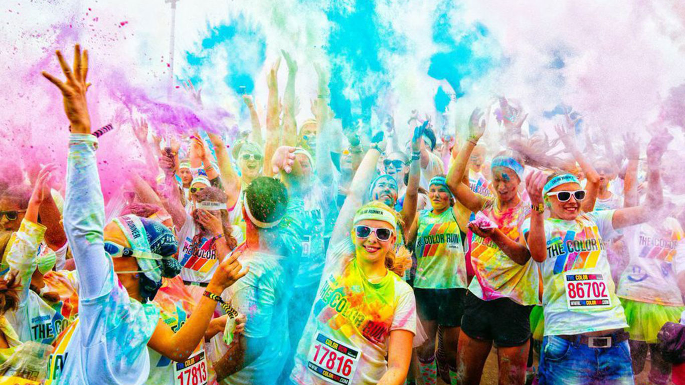 Farbe im Spiel: Color Run