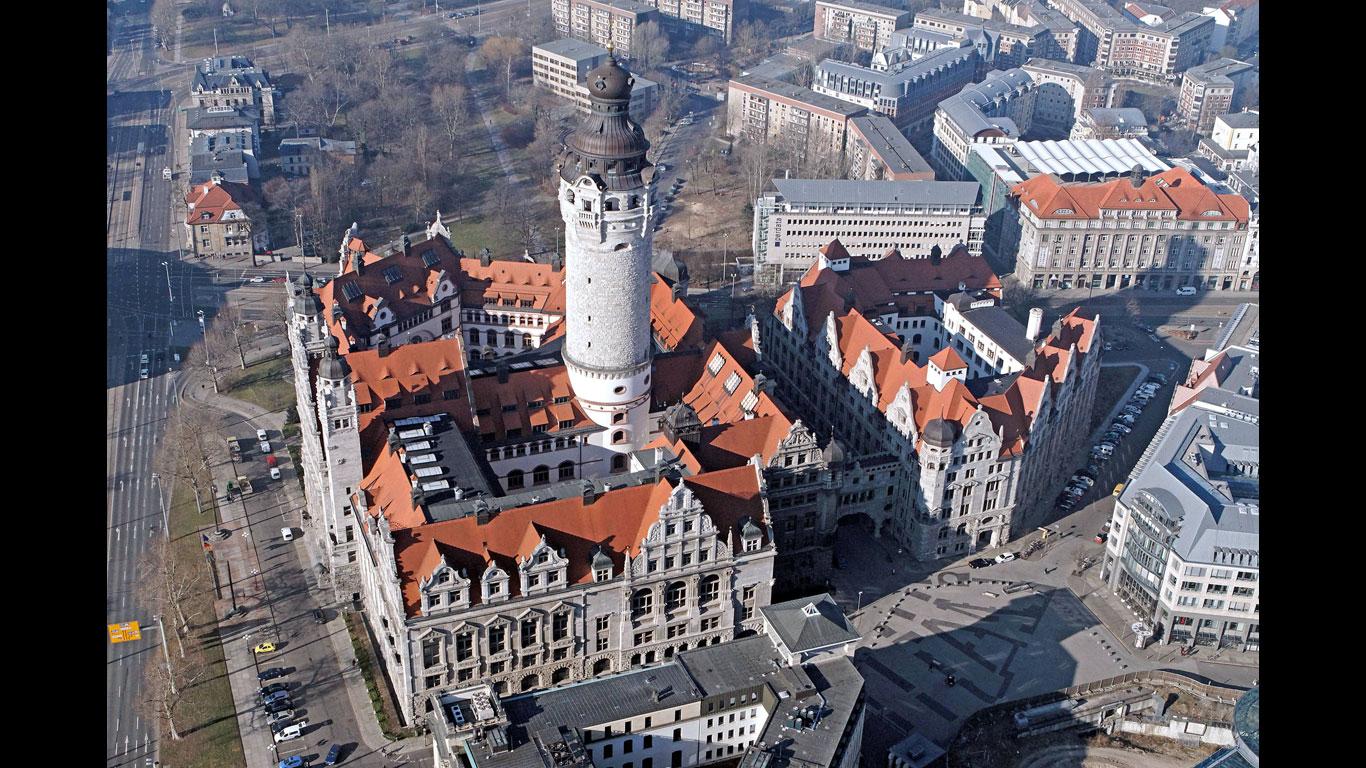 Der höchste Rathausturm in Deutschland steht in Leipzig