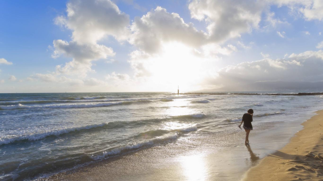 Einsame Strandspaziergänge
