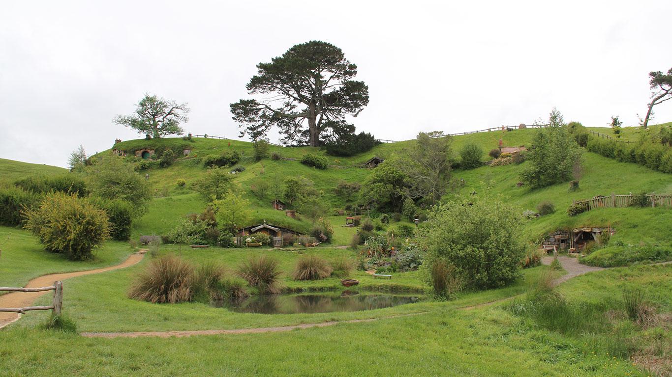 Hobbingen: Hügellandschaft des Auenlandes