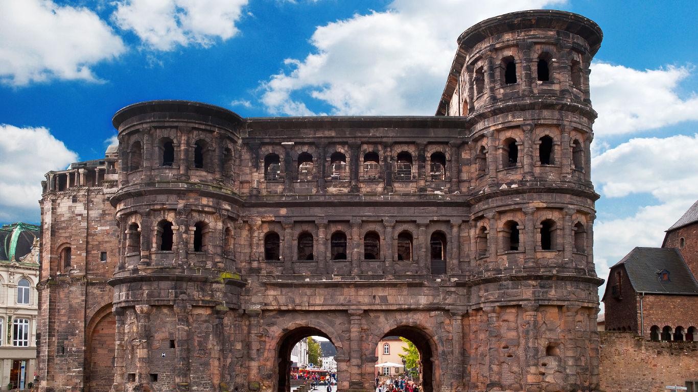 Die Römerbauten von Trier in Deutschland