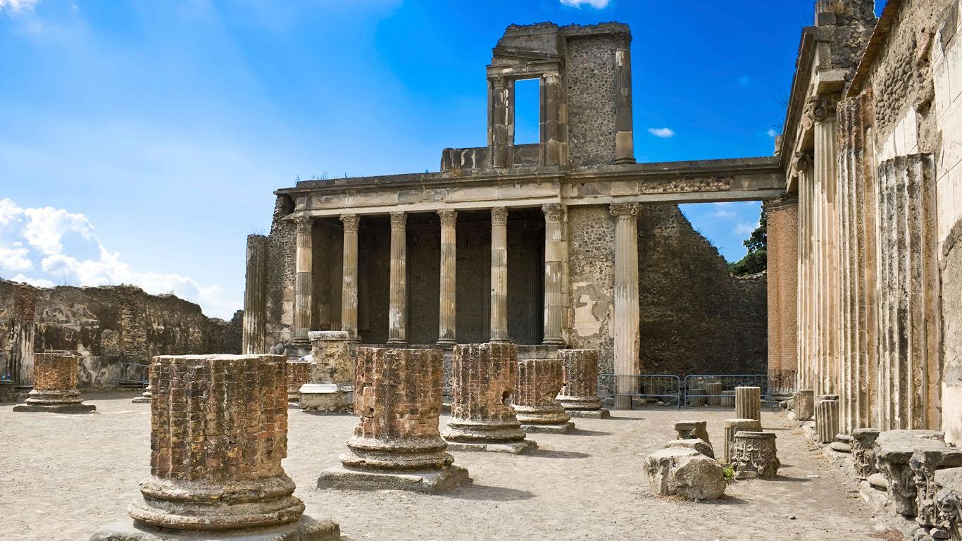 Die Ruinen von Pompeji in Italien
