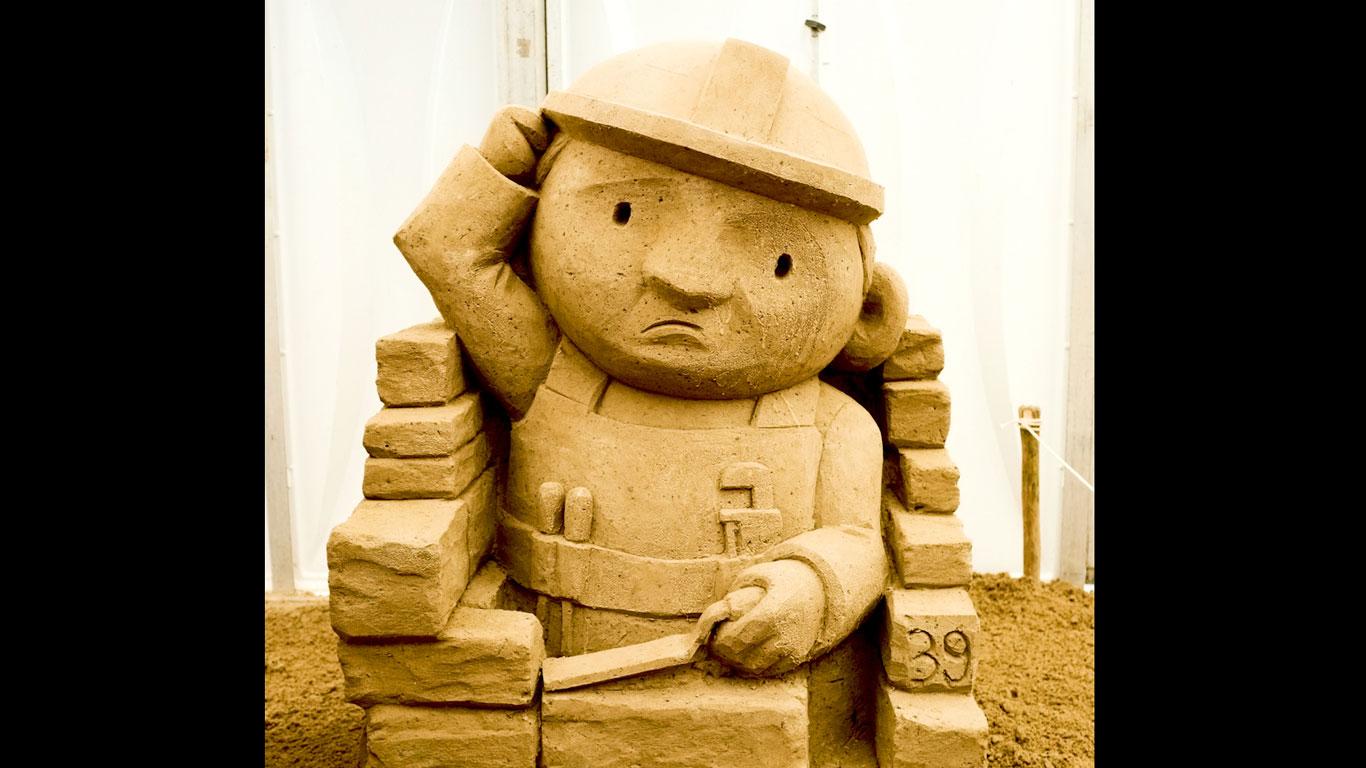 Baumeister aus Sand