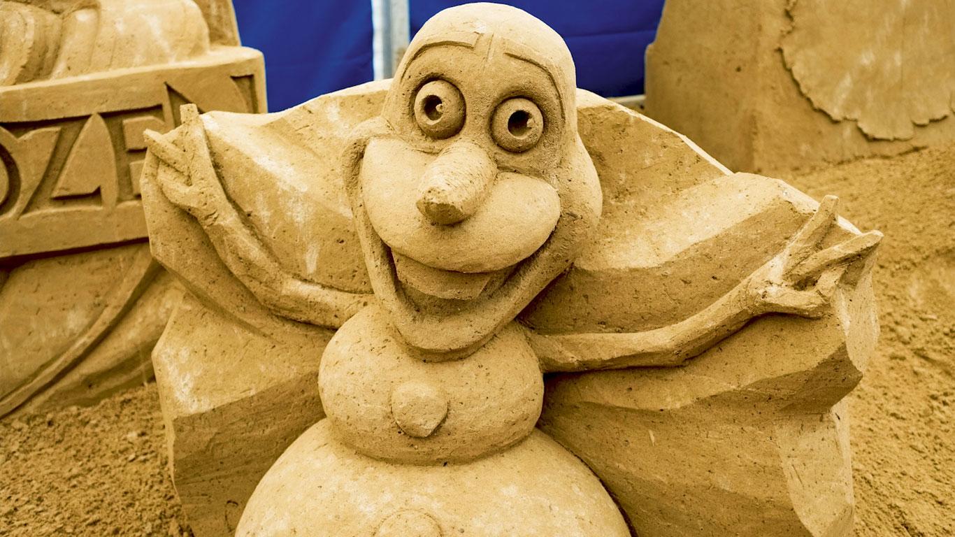 Schneemann aus Sand