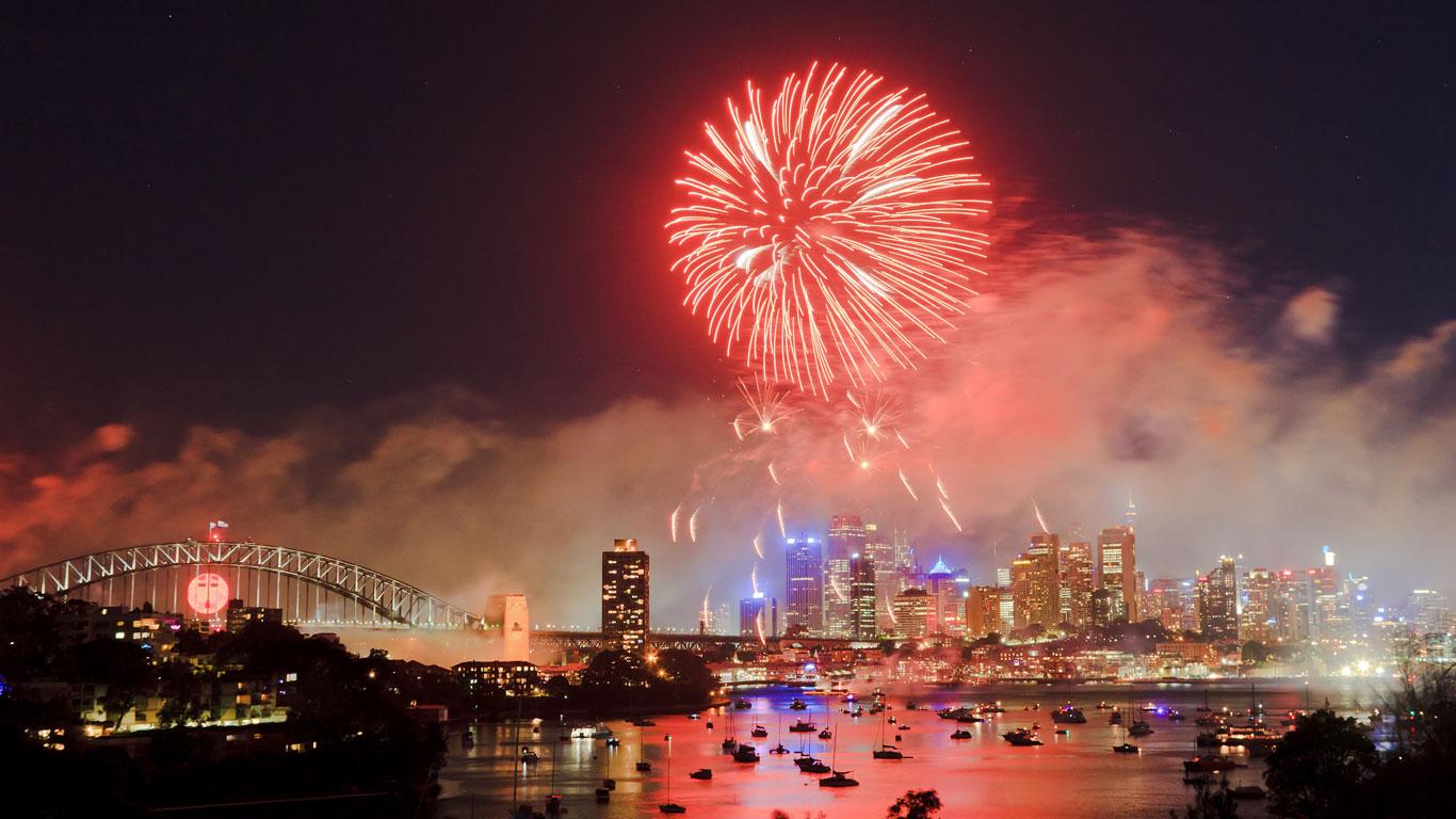 Sydney: Zum Feuerwerk nach Down Under