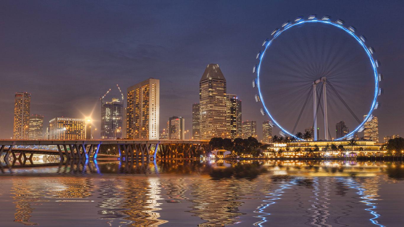 Eines der größten Riesenräder der Welt: Der Singapore Flyer