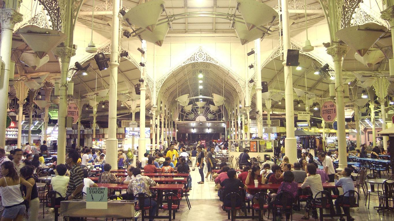 Genießen in Singapur: Der Foodmarket Lau Pa Sat