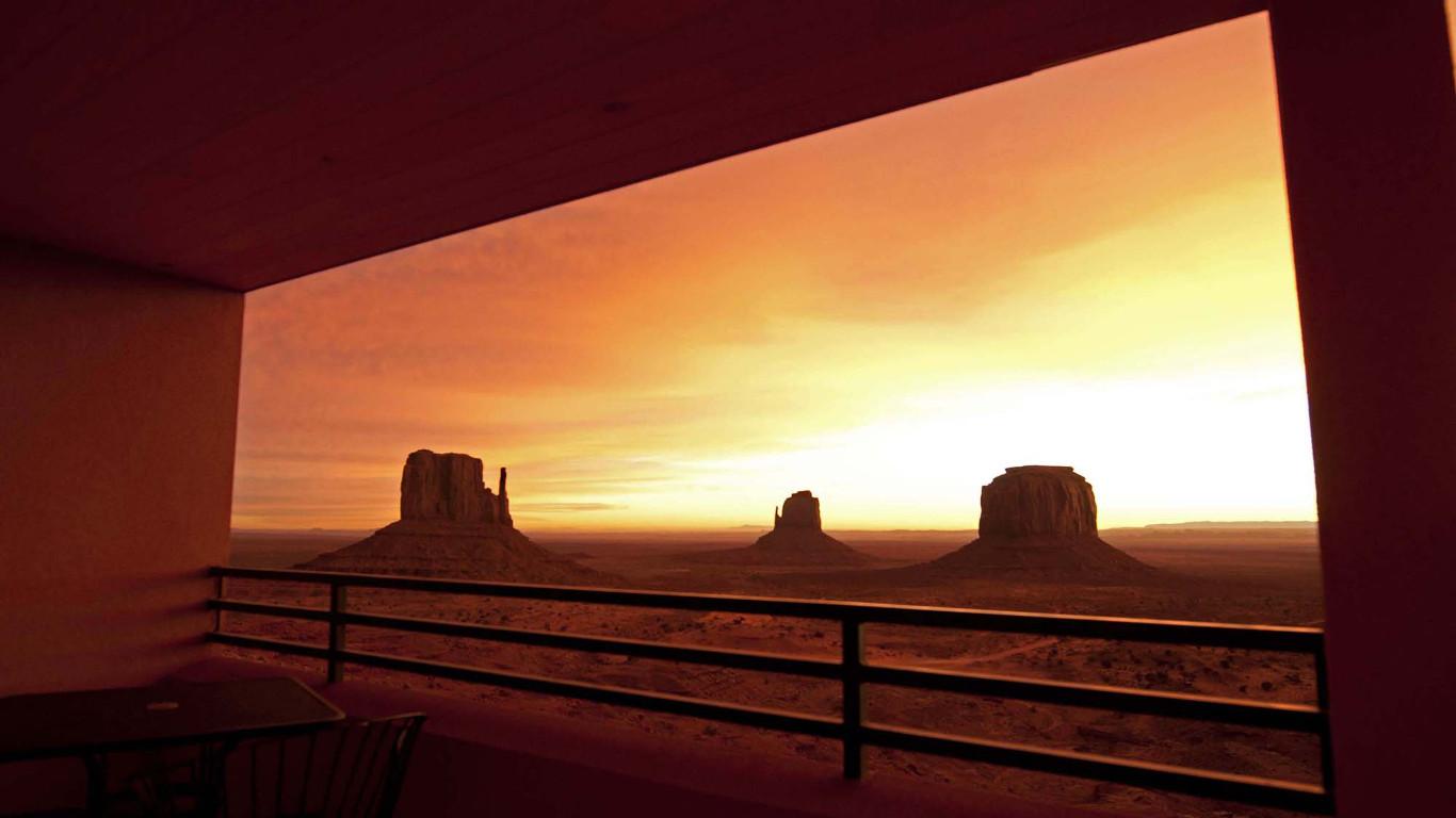 Der Name ist Programm – The View im Monument Valley