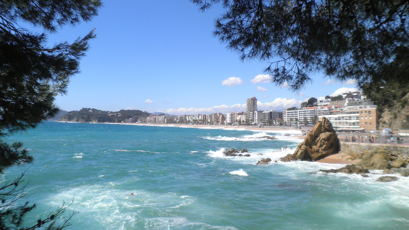 Fünf Kilometer Strand an der Iberischen Halbinsel