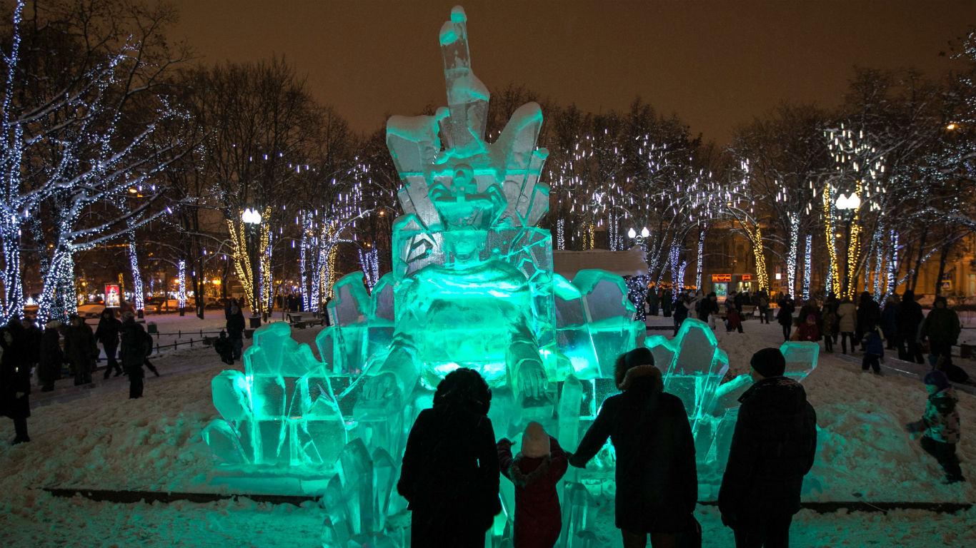 Eiskalte Kunstwerke