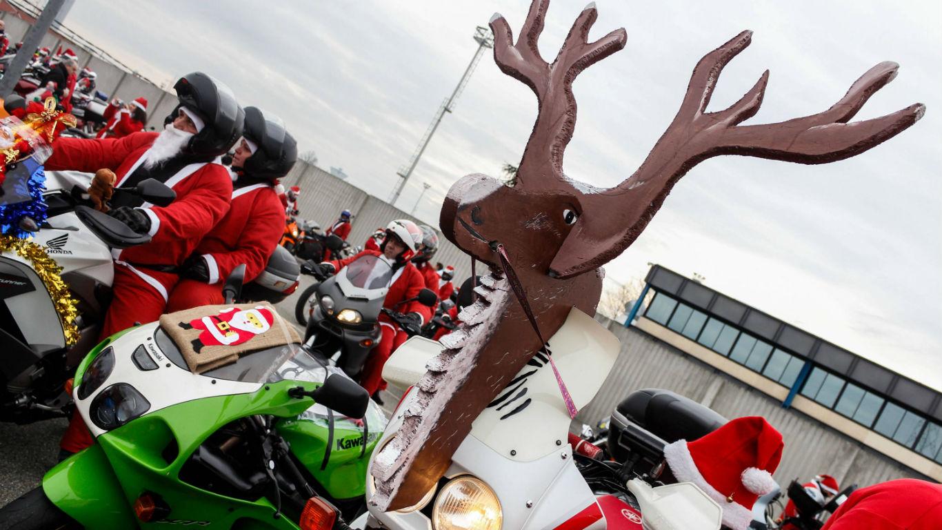 Santa-Rider in Turin