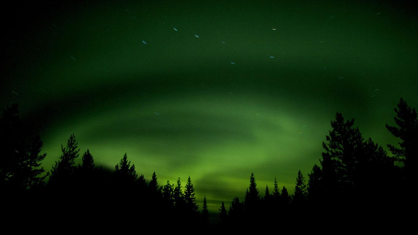 Kosmisches Phänomen im hohen Norden