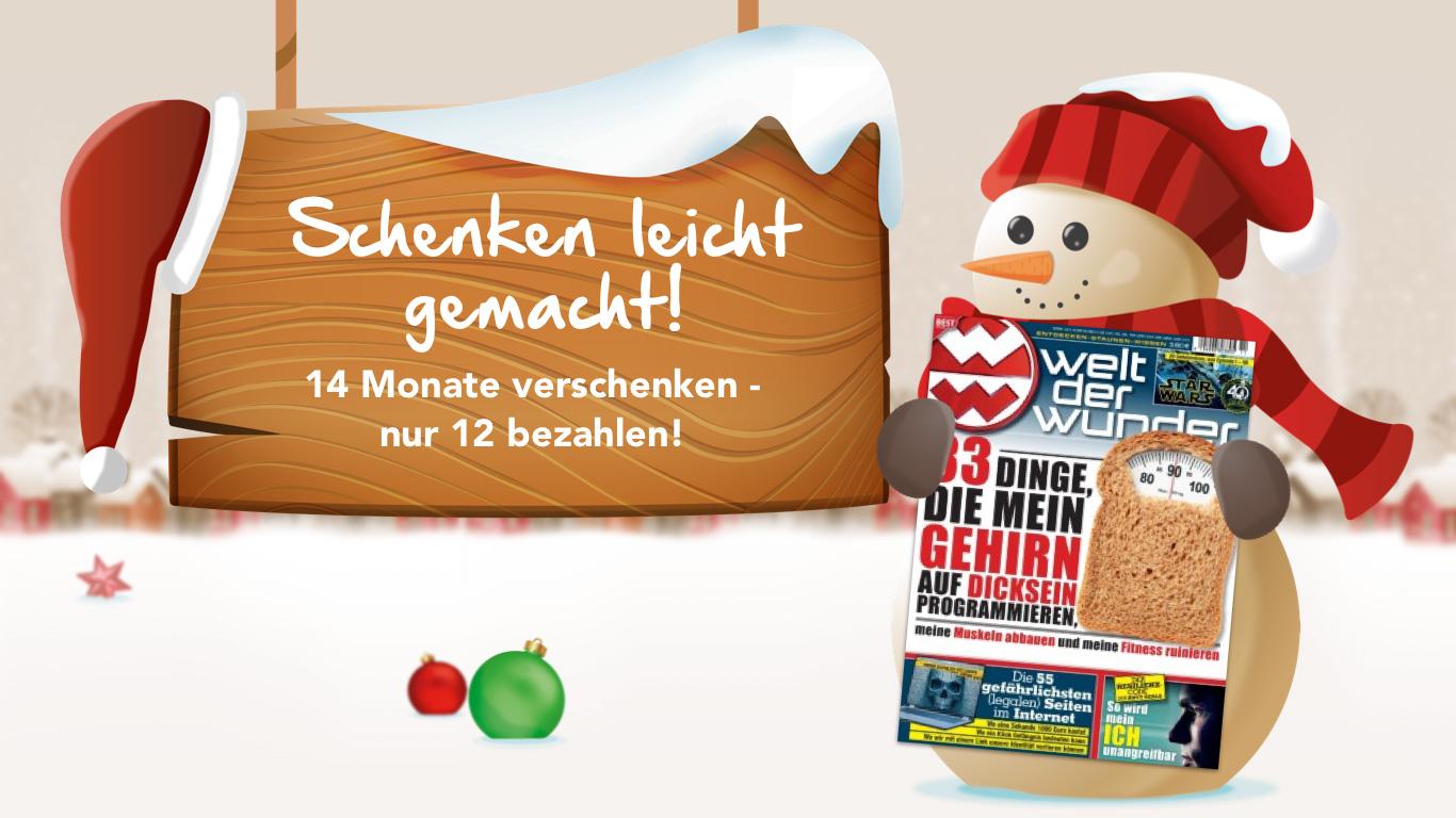 Das Weihnachtsangebot: Schenken leicht gemacht! - Welt der Wunder TV